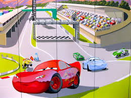 pixar s cars mural for lightning mcqueen wall mural painted on wardrobe