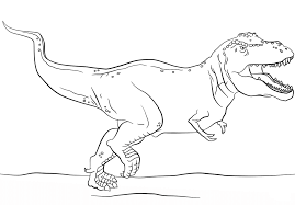 dinosaur rex coloring dinosaur coloring pages