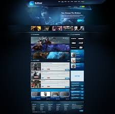 blue gaming template 2014 for sale by boriswick deviantart com on