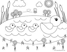 kids coloring free printable spring pictures free printable