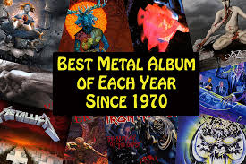 best photo album the best metal album of each year since 1970