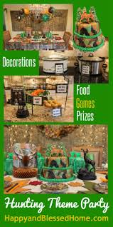 Decoration Ideas For Birthday Party At Home Camouflage Hunting Theme Party Fun Happy And Blessed Home