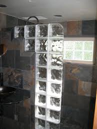 glass block shower wall commercial partition wall cleveland