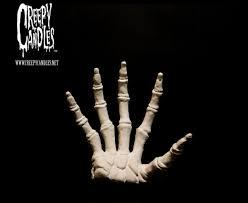 Halloween Skeleton Hands Bleeding Hand Candles Reveal Creepy Skeleton Beneath The Skin