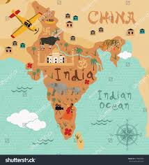 Map Of India by Cartoon Map India Kids Stock Vector 273889040 Shutterstock