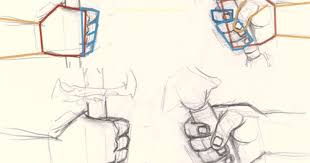 how to draw hand holding sword