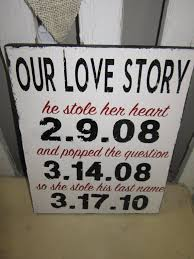 His And Her Wedding Gifts Custom Our Love Story With Dates He Stole Her Heart He Popped