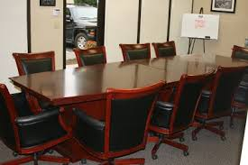 10 Foot Conference Table Executive Conference Table U0026 10 Matching Leather U0026 Wood Chairs