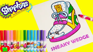 shopkins sneaky wedge coloring crayola markers
