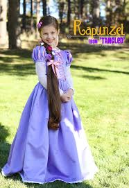 homemade halloween costumes rapunzel from tangled and a hair