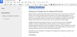 How To Make A Table In Google Spreadsheet Workflow From Google Docs To Ao3 A Primer Jenrose Archive Of