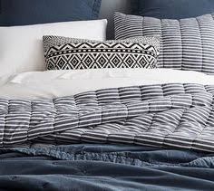 Pottery Barn Comforters Triangle Stitch Washed Cotton Quilt And Sham Pottery Barn