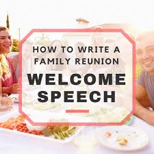 Thanksgiving Welcome Speech Family Reunion Welcome Speech Sles