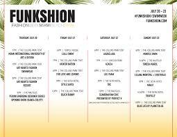 funkshion swim week miami beach schedule
