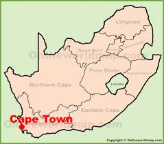 South Africa World Map Cape Town Location On The South Africa Map