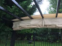 Steel Pergola With Canopy by Hampton Bay 9 Ft X 9 Ft Steel And Aluminum Arched Pergola With