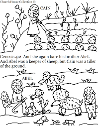 awesome design cain and abel coloring pages cain abel bible