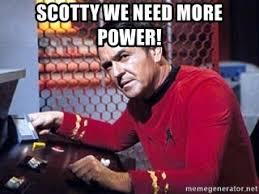 Meme Generator Star Trek - scotty we need more power scotty star trek meme generator