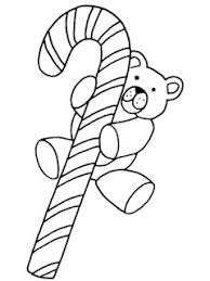 candy cane teddy bear coloring pages coloring pages