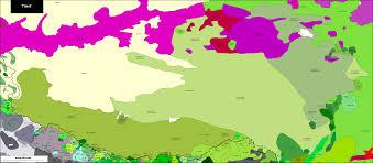 Tibetan Plateau Map Tibet Carte Linguistique Linguistic Map