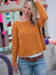 not a jersey cable sweater pdf knitting pattern ewe ewe yarns
