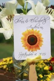 Sunflower Wedding Programs Sunflower Wedding Fans Sunflower Favor