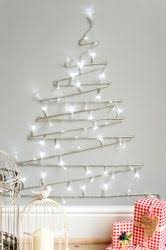 wall christmas lights decorations diy christmas tree cheap easy and space friendly way to decorate
