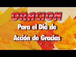 oracion para el dia de accion de gracias thanksgiving day