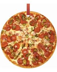 new savings on pepperoni pizza pie hanging shaped tree