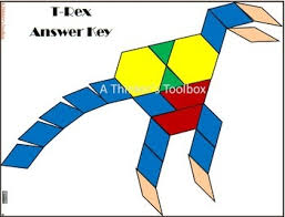 pattern blocks dinosaur puzzles by a thinker u0027s toolbox tpt