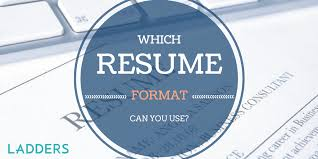 which resume formats can you use ladders