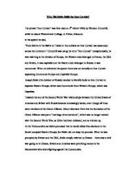 What Is The Iron Curtain Speech Which Of The Following Marked The Start Of The Cold War