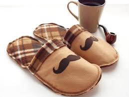 bedroom slippers for men mens mustache house slippers mojos cozy toes