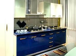 Cobalt Blue Kitchen Cabinets Blue Cabinet Kitchen U Shaped Kitchen Photo In With A