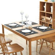large plastic table mats dining table behokic 6 pcs placemat washable pvc dining table mat