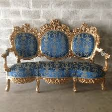 antique italian rococo throne sofa settee couch chairs fauteuil