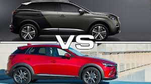 peugeot jeep 2016 2017 peugeot 3008 vs 2016 mazda cx 3 youtube