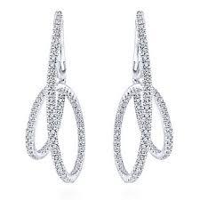 hoop diamond earrings intricate twist hoop diamond pave earrings