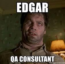 Qa Memes - edgar qa consultant edgar mib meme generator