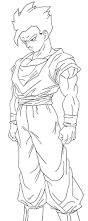 7 pics of dbz gohan coloring pages dragon ball z gohan super