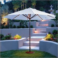 Patio Umbrella Led Lights by Decorations Pretty Lighted Patio Umbrella For Enchanting Patio