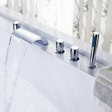 monora brushed nickel waterfall tub faucet three handles bathtub faucet with shower head home design game hay us