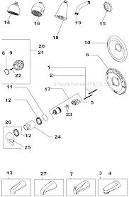 Delta Tub Shower Faucet Repair Parts Delta Faucet T13420 H2o Parts List And Diagram Ereplacementparts Com