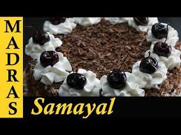 black forest cake in tamil how to make black forest cake at home