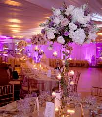 white gold and purple wedding centerpieces tablescapes wedding design wedding flowers high