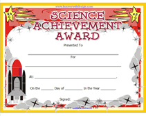 award certificate samples printable science achievement awards certificates