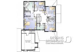 plan de maison 5 chambres maison et chalet avec cinq 5 chambres plans dessins drummond