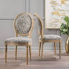 Patterned Dining Chairs Hawthorne Black And White Patterned Fabric Dining
