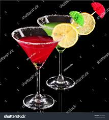 martini bacardi martini glasses on black background stock photo 71950099