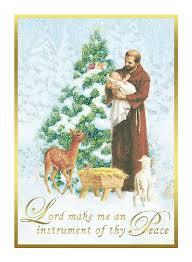 catholic christmas cards francis christmas card box of 25 cards and envelopes